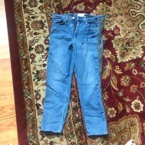 McGuire Camo-Stripe Cropped Jeans